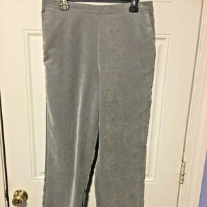 Alfred Dunner Size 14 Gray Corduroy Pull on Pants